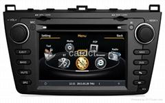 Car DVD Player For Mazda 6 With GPS Navi Radio BT iPod 3G WIFI