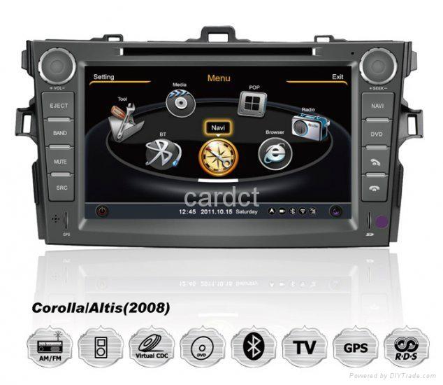 Car DVD Player For Toyota Corolla With GPS Navi Radio BT iPod 3G WIFI 1
