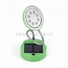 新款太陽能臺燈八燈圓形