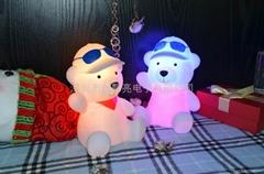 LED发光儿童笨笨熊小夜灯