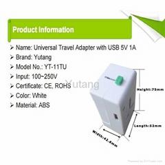 Worldwide US/EU/AU/UK Travel Adapter Plug With USB
