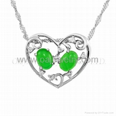 gemstone silver fashion jewelry pendant