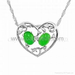 gemstone silver fashion jewelry pendant