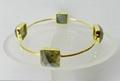 Labradorite Bezel setting Square Gold