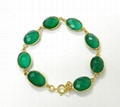 Green Onyx Oval Bezel Setted Gold plated
