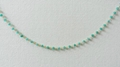 Apatite Hydro Roundel Facet Handlinked Silver 18 inch Chain 5