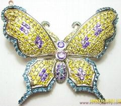 Brass Jewelry Brooch