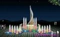 湖北黄石广场音乐喷泉