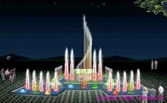 湖北黃石廣場音樂噴泉