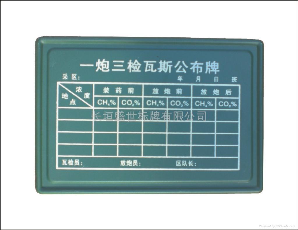 煤礦可擦拭記錄牌板 3