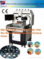 Supply Enamel Coins Coloring machine