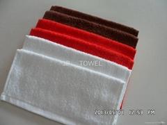 100%棉全棉素色活性染色小方巾