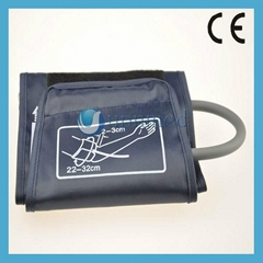 Sphygmomanometer Reusable Adult single tube NIBP cuff with metal ring