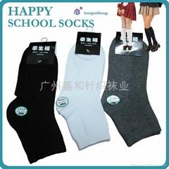 素色純棉學生襪