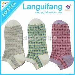 女款精梳棉粗針襪