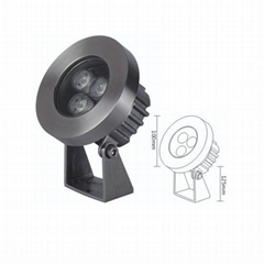 3W Epistar LED underwater light 24vdc rgb dmx 3w led pool light