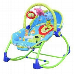 New printed baby rocker with toys