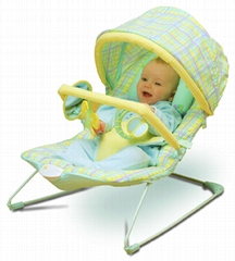 Baby rocker with canopy and toys