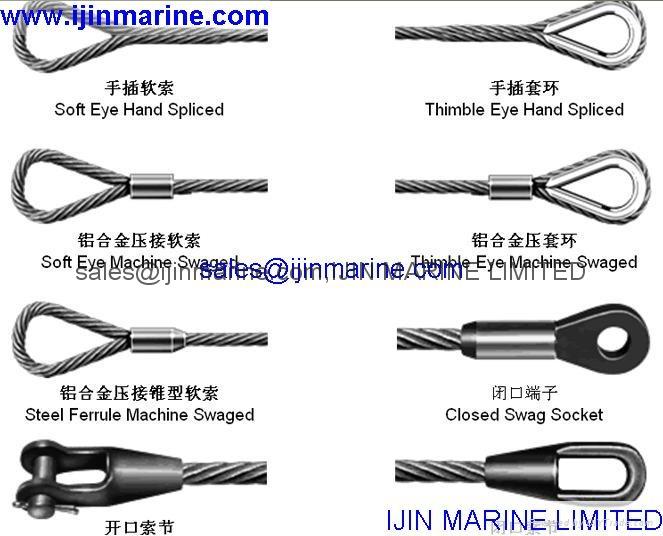 Ship steel wire rope for crane,davit - 8mm*300m - IJIN (Hong Kong ...