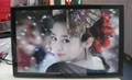 "32""wall mount Advertising display DPF"