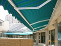 motorized aluminum awning