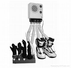 Shoe dryer with glove bracket