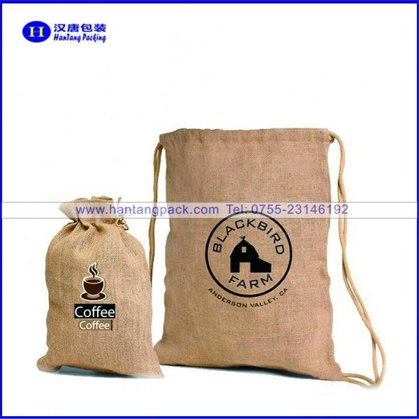 handmade eco jute coffee bean bags  1