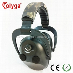 Electronic earmuffs with camo headband