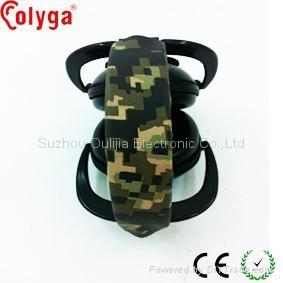 Electronic earmuffs with camo headband 3