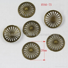20mm Bead Caps antique bronze plated alloy beads jewelry finding