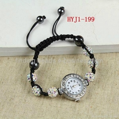 shamballa watch 10mm beads ladies girl's bracelet watch.wrist watch