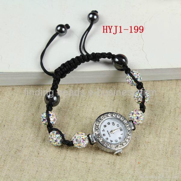 shamballa watch 10mm beads ladies girl's bracelet watch.wrist watch  1