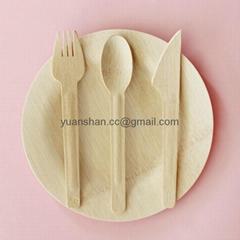 Single-use bamboo dinnerware