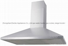 Range Hood with Stainless Steel, Push Botton with 2 Speeds(TRH-111-9)