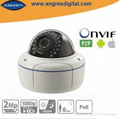 Full HD 2.0 MP CCTV ir dome ip camera