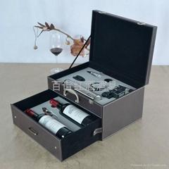 不鏽鋼電動開瓶器雙層雙支酒箱