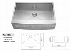 undermount handmade stainless steel apron kitchen sink