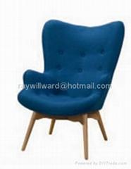 實木布藝朮椅