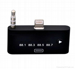 3.5mm 8 pin to 30 pin Adapter FM Radio Transmitter Audio Dock for iPhone 5S 5C 5