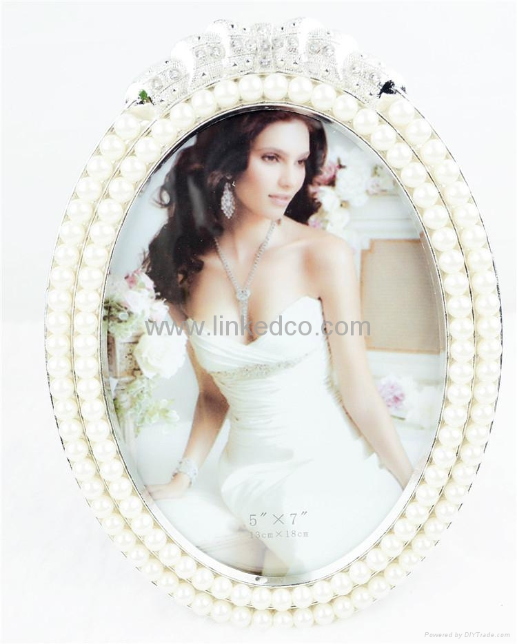 Europe alloy pearl silver photo frame wedding gift  1
