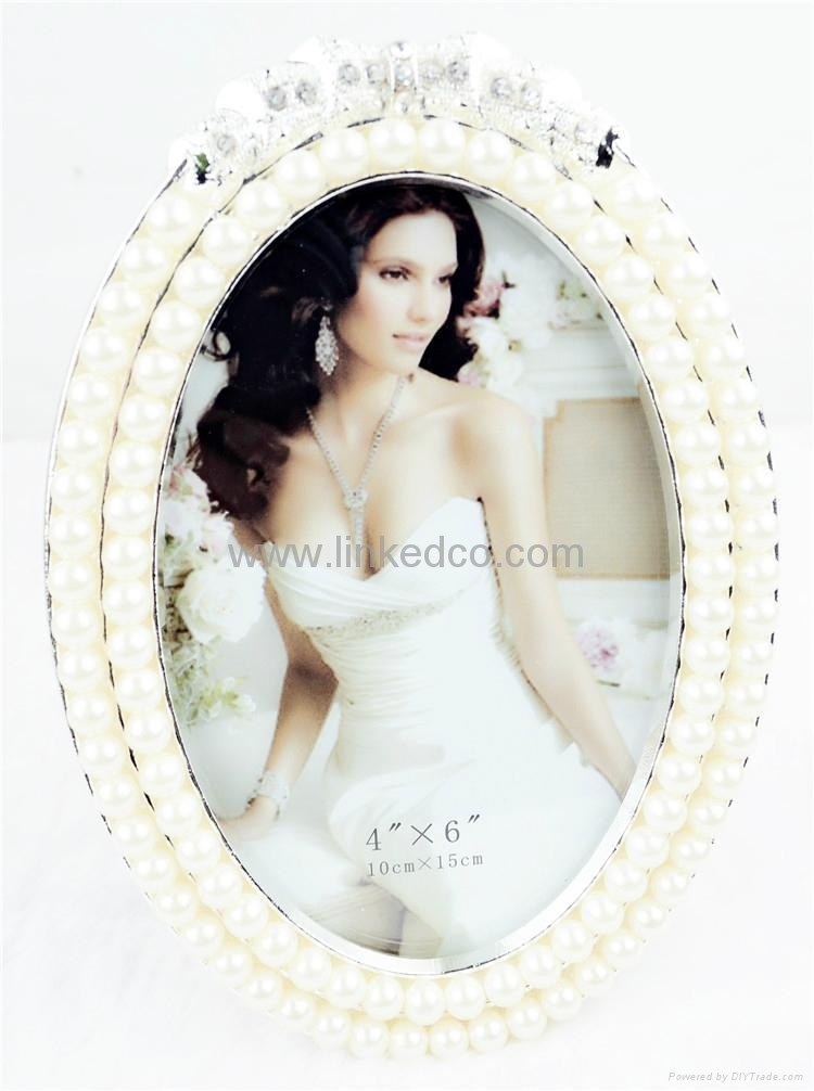 Europe alloy pearl silver photo frame wedding gift  2
