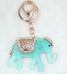 Fashion elephant  key chain zinc alloy bag charms