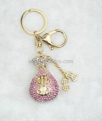 高檔時尚香水瓶鑰匙扣鋅合金包扣