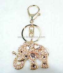 高档时尚大象钥匙扣锌合金包扣