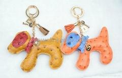 PU小狗钥匙扣包扣