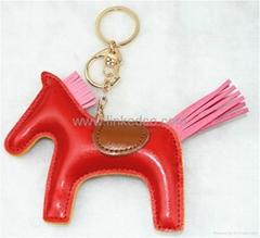 PU小马钥匙扣包扣