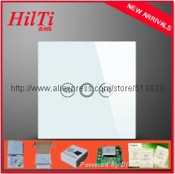 Crystal tempered glass panel electromotion touch screen curtain switch 1