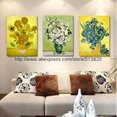 hand painted wall art Beautiful Van Gogh Sunflower Painting