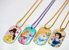 metal tags for jewelry necklace charms