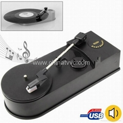 USB 迷你黑膠唱片機老式留聲機轉MP3